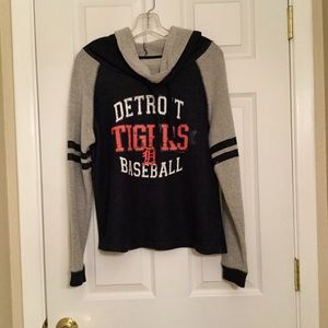 Cowl Neck Detroit Tigers Sweatshirt